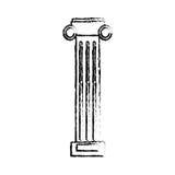 Column pilaster sketch. Column pilaster ornament sketch  illustration eps 10 Royalty Free Stock Photography