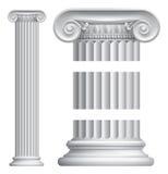 Column Pillar. An illustration of a classic Greek or Roman ionic column pillar stock illustration