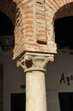 Column of the Plaza Chica, Small Square, Zafra, province of Badajoz, Extremadura, Spain Royalty Free Stock Photo