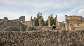 Column Pompeii ruins - Italy Royalty Free Stock Photography