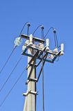 Power line column Stock Image