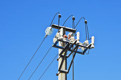 Power line column Royalty Free Stock Photography