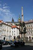 Column_Prague della trinità santa Fotografie Stock Libere da Diritti