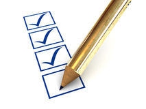 The column of the questionnaire. Royalty Free Stock Photo