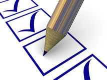 The column of the questionnaire. Royalty Free Stock Image