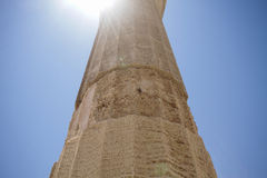 Column in Rhodos. Photo made in Greece Stock Photo