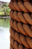 Column With Rope Royalty Free Stock Photography