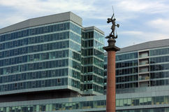 Column with sacred George, Moscow Stock Photo