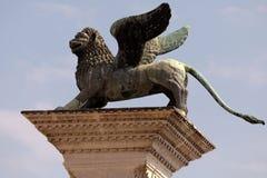 Column of San Marco in Venice, Italy Stock Photo
