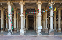 Column at Sarkhej Roza mosque, Ahmedabad Royalty Free Stock Images