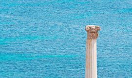 Column and sea Royalty Free Stock Photo