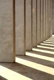 Column and Shade Stock Photography