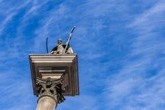 Column of Sigismund in Warsaw Poland stock photos
