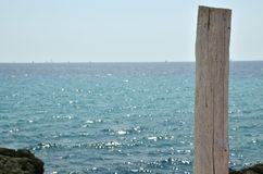 Column silhouettes of sailing boats Royalty Free Stock Photos