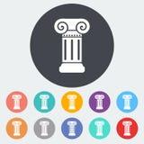 Column single icon. Royalty Free Stock Photo
