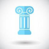 Column single icon. Royalty Free Stock Image