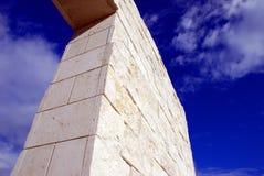 Column and sky. A stone column and the blue sky Stock Photos