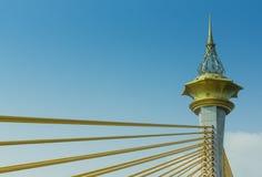 Column of sling Bridge Nonthaburi Stock Photo