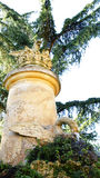 Column source Horta Labyrinth. In Barcelona Royalty Free Stock Photos