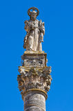 Column of St. Andrea. Presicce. Puglia. Italy. Stock Images