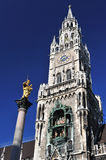 Column of St. Mary in Munich Stock Images
