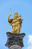 Column St. Mary Munich Royalty Free Stock Image