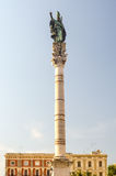 Column of St Oronzo statue in Lecce, Salento, Italy Royalty Free Stock Images