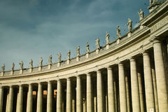 Column at St-peter's square Stock Photos