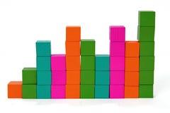 Column of stacked blocks Royalty Free Stock Photo