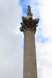 Column with the statue of Admiral Nelson in London Stock Image