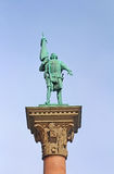 Column with statue of Engelbrekt Engelbrektsson royalty free stock images