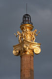 Column at sunset, Vienna. Stock Image