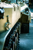 Column of tanks is on a mission Stock Photo