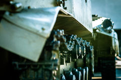 Column of tanks is on a mission Royalty Free Stock Photo