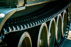 Column of tanks is on a mission Royalty Free Stock Image