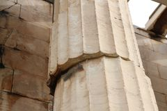 Column of Temple of Hephaestus in Ancient Agora of Athens. Greece Stock Photography