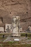 Column in Terme di Caracalla Royalty Free Stock Photography