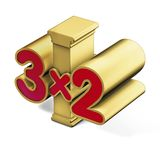 Column three for two Royalty Free Stock Photo