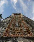 Column on tomb of Tu Duc emperor in Hue, Vietnam - stock image