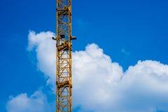 Column of tower crane Stock Photo