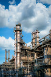 Column tower petrochemica plant with blue sky Stock Images
