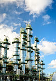 Column tower in petrochemical plant Royalty Free Stock Image