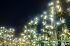Column tower in petrochemical plant Stock Photography