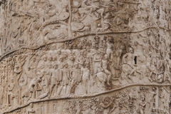 Column of Trajan detail Stock Photography