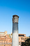 Column at the Trajan's Forum. Rome, Italy. Royalty Free Stock Images