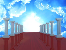 Column tunnel, 3d render Royalty Free Stock Photos