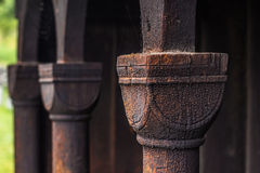 Column of Urnes Stave Church, Norway Stock Photography