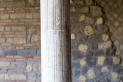 Column in Villa Oplontis Royalty Free Stock Photos