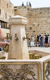 Column for washing hands in the Western Wall in Jerusalem, Israel Royalty Free Stock Photo