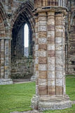 Column of Whitby Abbey Stock Image